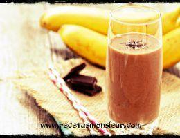 Batido de chocolate y plátano con Monsieur Cuisine