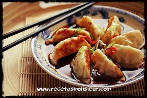 Gyozas, empanadillas japonesas, cocina asiática con Monsieur Cuisine