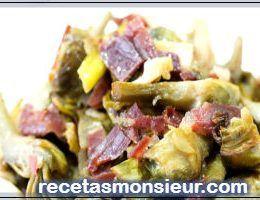 Receta de alcachofas con jamón con Monsieur Cuisine