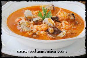 Receta de arroz caldoso con marisco
