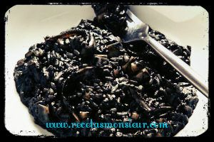 Arroz negro con calamar con Monsieur Cuisine