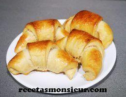 Receta de Croisant casero o cruasán con Monsieur Cuisine