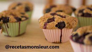 Receta de magdalenas con chocolate con Monsieur Cuisine