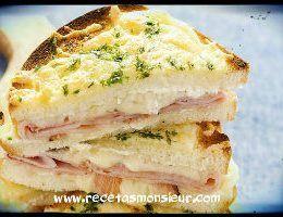 Receta de sándwich croque con robot de cocina Monsieur Cuisine