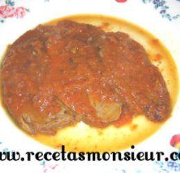 Receta de solomillo de ternera con salsa de tomate