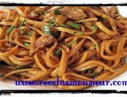 Tallarinos chinos monsieur cuisine
