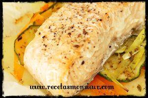 Con Monsieur Cuisine, verduras y patatas con salmón